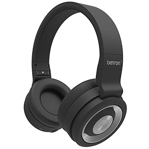 Betron BN15 Wireless Headphones, Headphones with Microphone, Enhanced Bass, Compatible with Bluetooth Smartphones Mp3 Players Tablets and Computers