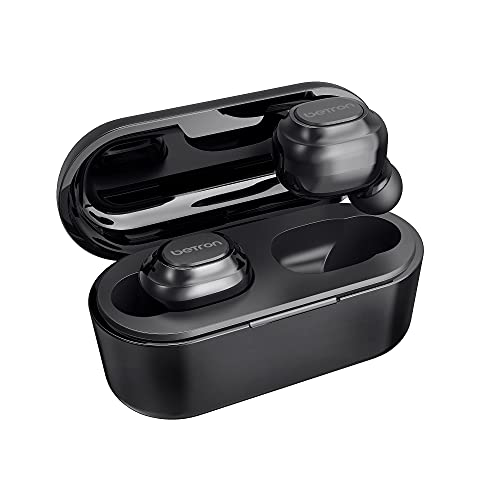 Betron BGM20 Wireless In Ear Headphones Earbuds Earphones with Microphone and Deep Bass Compatible with Bluetooth Smartphones