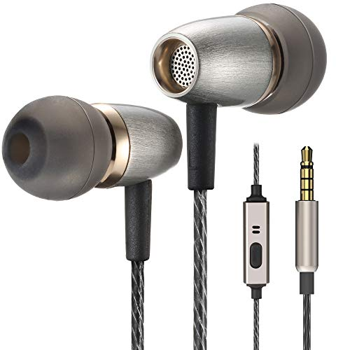 Betron AX3 Earphones with Microphone, In-Ear Headphone Design, Noise Isolating Eartips, Earphone Carry Case