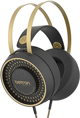 Betron Headphones, Over Ear Headphone, Clear Bass Driven Audio and Lightweight Design Including 3.5mm and USB Type C connector