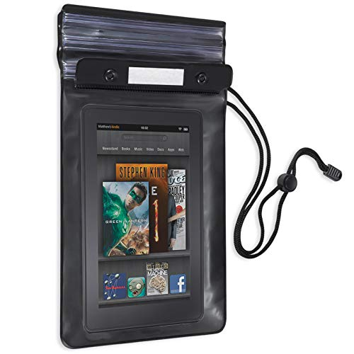 Betron Waterproof Dry Bag Case Cover Compatible with Kindle, Ipad Mini or Tablets up to 7 inch
