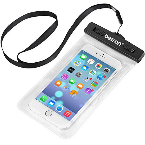 Betron Waterproof Carry Case Cover Compatible with iPhone and Samsung Galaxy Mobile Phones