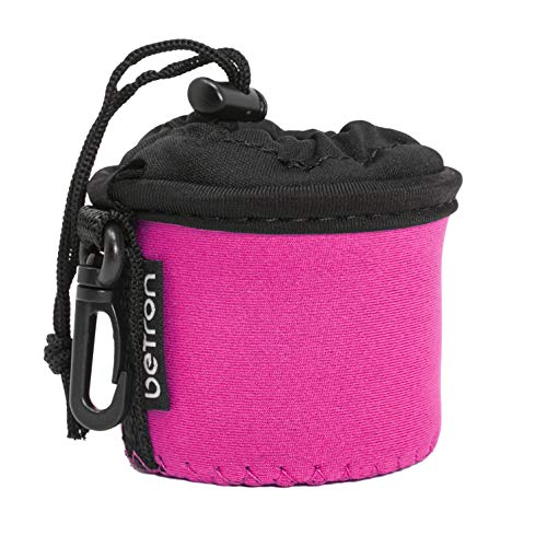 Betron Speaker Case, Carry Bag for Betron KBS08, X Mini Capsule, Kai, Anker Mini, Easyacc Mini, Betron BPS60 and Betron Pop Up Speakers (Pink)