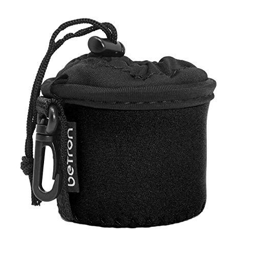 Betron Speaker Case, Carry Bag for Betron KBS08, X Mini Capsule, Kai, Anker Mini, Easyacc Mini, Betron BPS60 and Betron Pop Up Speakers (Black)